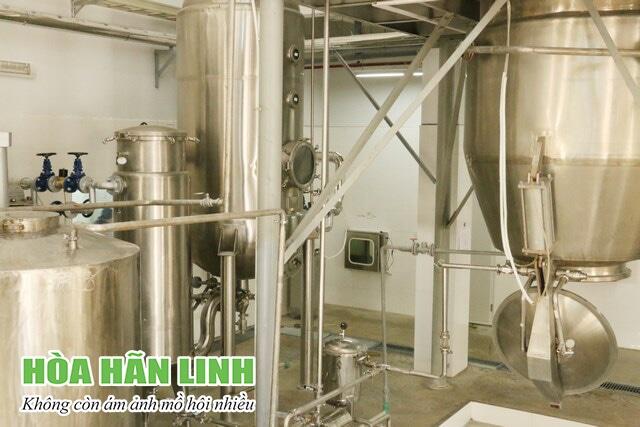 Thiết bị chiết xuất cao dược liệu của sản phẩm Hòa Hãn Linh